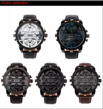 oulm Brand Mens Watches Top Brand Luxury Quartz Male Clock Casual Leather Band Watch Military Wristwatch