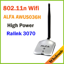 New 2014 High Power ALFA AWUS036H 1000MW WIFI Wireless USB Network Adapter 5DB Antenna with RT3070Chipset,Wholesale Dropshipping(China (Mainland))