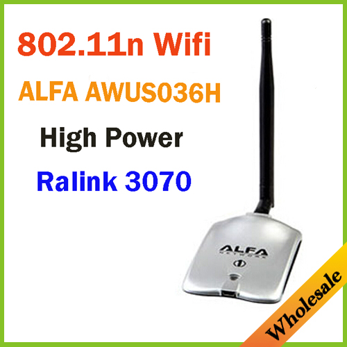 New 2016 High Power ALFA AWUS036H 1000MW WIFI Wireless USB Network Adapter 5DB Antenna with RT3070Chipset,Wholesale Dropshipping(China (Mainland))