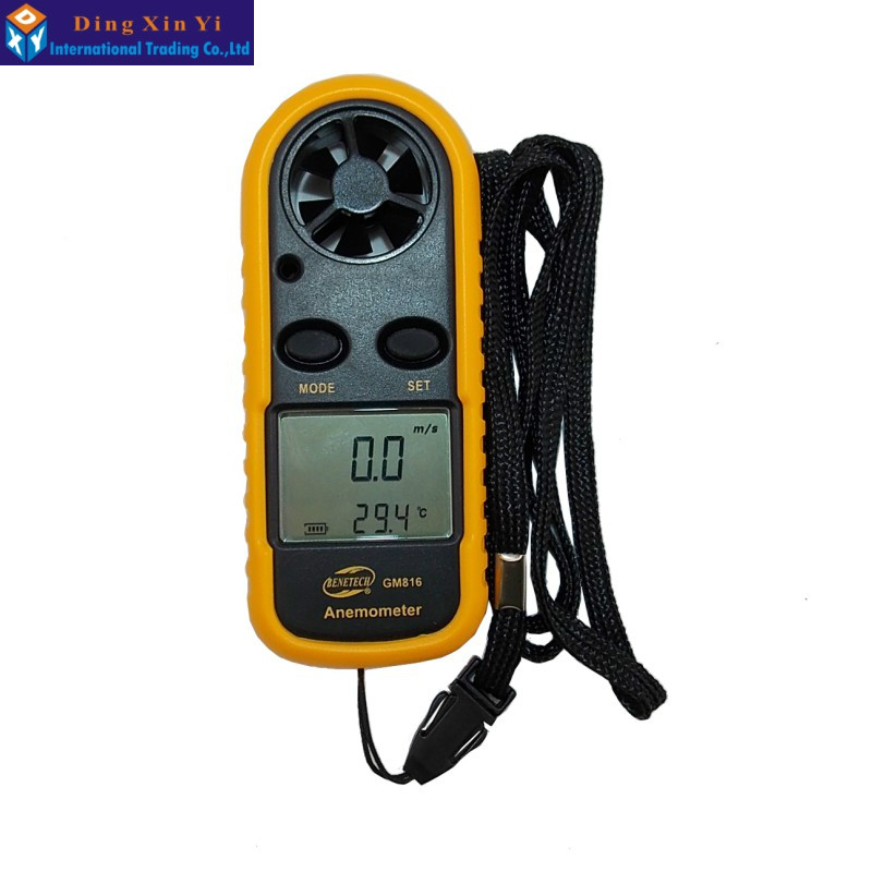 Free Shipping GM816 30m/s (65MPH) LCD Digital Hand-held Wind Speed Gauge Meter Measure Anemometer Thermometer<br><br>Aliexpress
