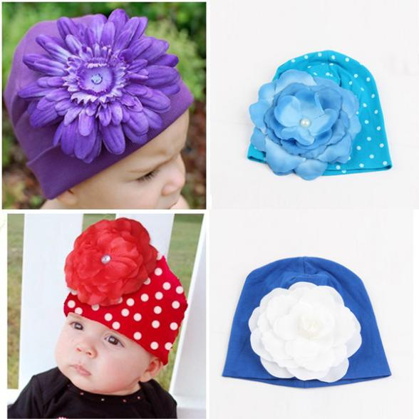 Cheap Factory Price! Infant Kids Baby Winter Hat Photography Props 3D Flower Hats Cap Beanie NEW(China (Mainland))