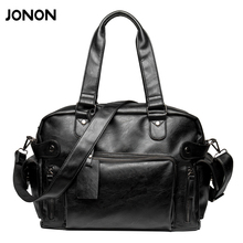 Buy New Fashion Multifunction Mens PU leather Travel Bags Brand Waterproof Vintage men messenger bags high shoulder bags for $27.53 in AliExpress store