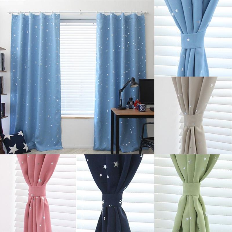 Comblackout Curtains For Kids Rooms : 130cm x190cm Star Kids Child Bedroom curtains with 5 colors Blackout ...