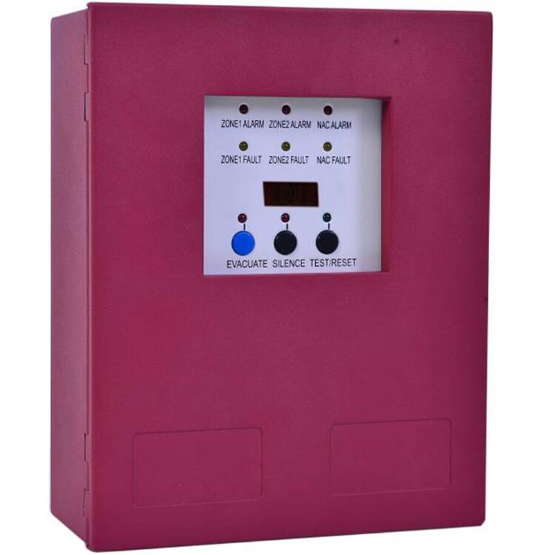2 Zones Fire Alarm Control Panel MINI Fire Alarm Control System Conventional Fire  Control Panel