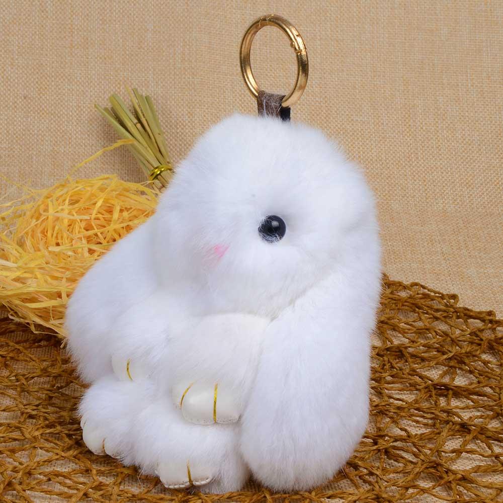 Зайчик из меха кролика своими руками 58