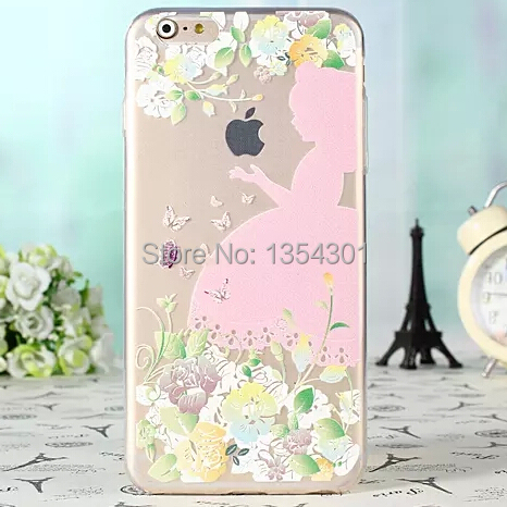 Ultra Thin Crystal Clear Cute Princess Girl Soft Cover Cases Apple iPhone 6 Plus TPU Case Shell Skin iphone6 plus 5.5'' - IRS Trading Co.,Ltd store