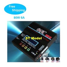 hot B6AC 80W 6A multi charger dual power buit in adapter Lipo NiMH 2S 3S 4S 5S 6S RC Battery Balance Charger AC Free Shipping