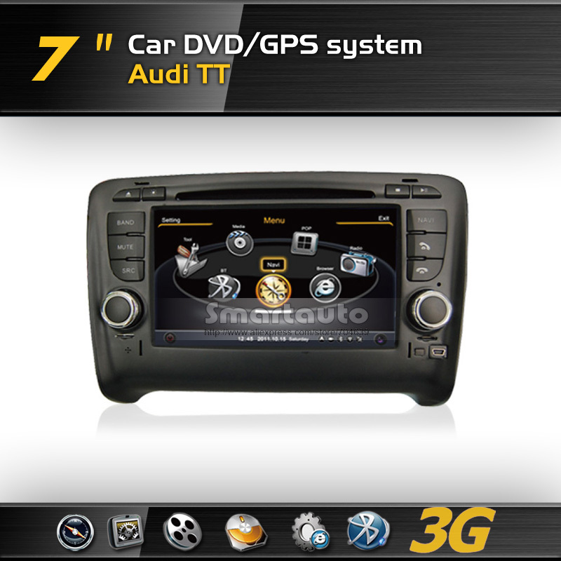 Hot sale new Frequency 1575.42MHZ C/A CODE,Virtual 20 CD,4G memory for Audi TT 3G A8 DVD GPS with iPod,Support Rearview Camera(China (Mainland))