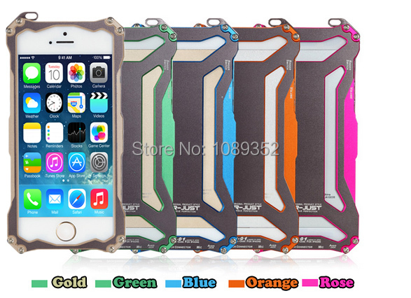 Free shipping, R-Just GunDam, Anti-knock Metal Case, 5 Colors, for iPhone 5/5S, Welcome to order, Retail and wholesale.