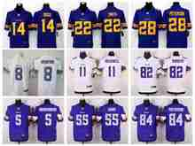 100% Stitiched,minnesota vikings Viking,Teddy Bridgewater Laquon Treadwell Harrison Smith Anthony Barr Elite for men(China (Mainland))
