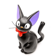 New Arrival Hayao Miyazaki Anime Kiki's Delivery Service Black Cat Resin Figures Piggy Bank Toys Collection Brinquedos Toy
