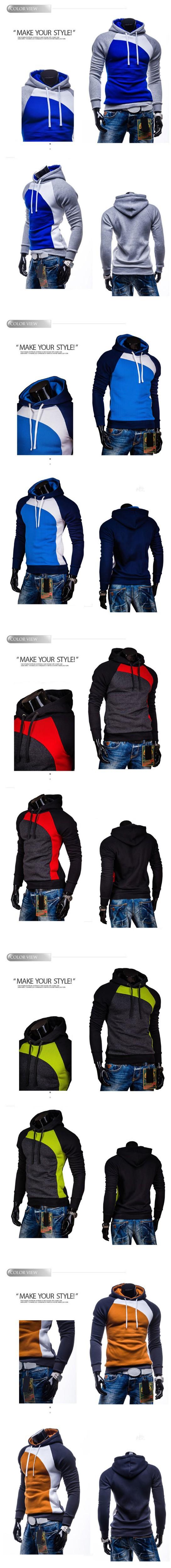 8-2015 New Arrival Hoodies Men Solid Color Fashion chandal hombre sudaderas sweatshirt men