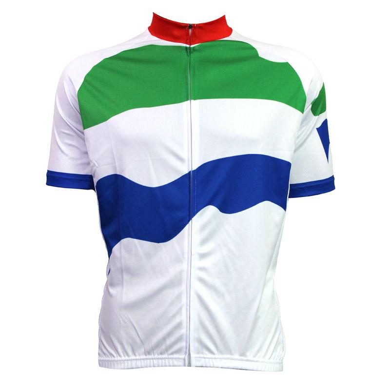 New Mens Cycling Jersey Comfortable Bike/Bicycle shirt  Sierra Leone flag Alien SportsWear Stripes cycling clothing Size2XS-5XL<br><br>Aliexpress