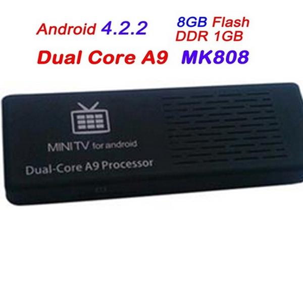 MK808 Dual Core Google Android 4.2 TV BOX Mini PC Stick Thumb Rockchip RK3066 A9 HDMI RAM 1GB DDR3 ROM Nand Flash 8GB(China (Mainland))