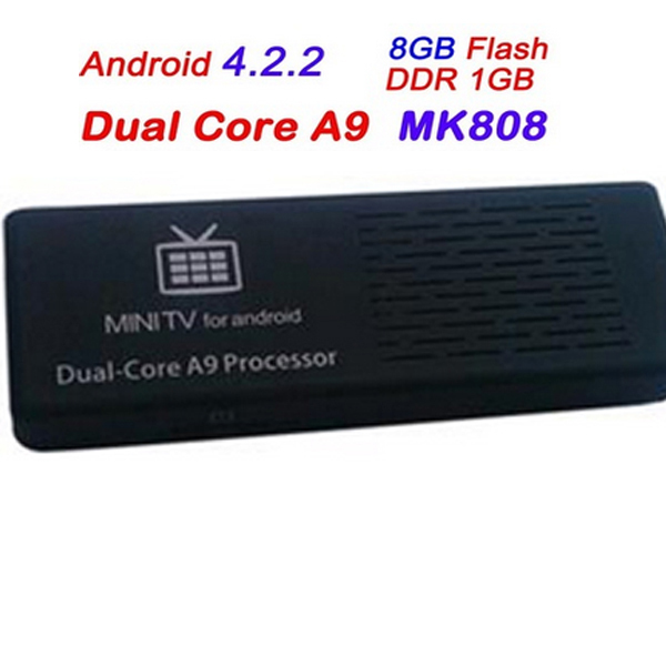 MK808 Dual Core Google Android 4.2 TV BOX Mini PC Stick Thumb Rockchip RK3066 A9 HDMI RAM 1GB DDR3 ROM Nand Flash 8GB(China (Mainland))