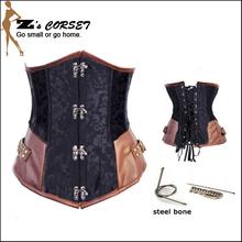 Sexy Steampunk Steel Boned  Underbust Corselet Plus Size