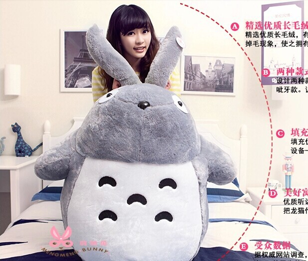 huge 55 inch Hayao Miyazaki Totoro plush toy,, hugging pillow ,Christmas gift w2173<br><br>Aliexpress