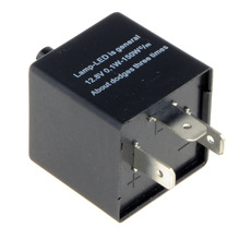 New Electronic LED Flasher Relay 3 Pin 12V Car Or Motorcycle Turn Adjustable Flasher Signal Relay G0181 P18 0.2 (China (Mainland))