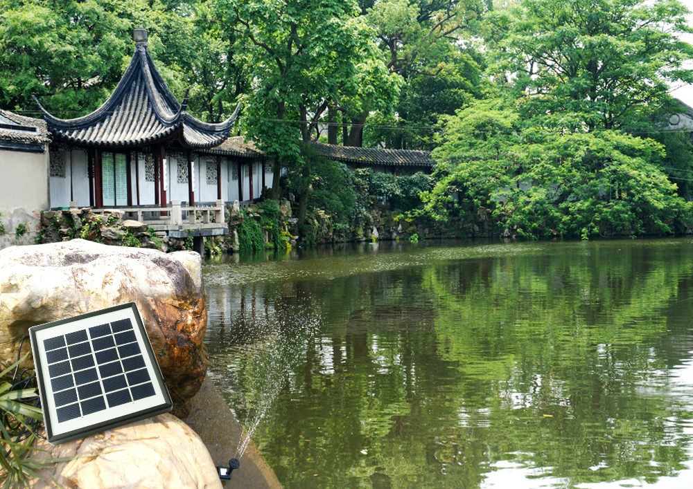 Solar Fountain Made up of Highly Efficient Solar Panel and New Brushless Pump Suit for Bird Bath,Small Pond, Garden Decoration(China (Mainland))