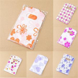 Wholesale Lot 100pcs Pretty Mixed Pattern Plastic Gift Bag Shopping Bag 14X9CM(China (Mainland))