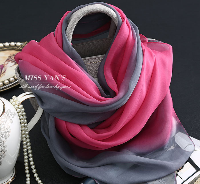 Red and Grey Wholesale 100% Silk Scarf In Summer Sunscreen Turban Hijab Style 2016 Muslim Women Shawls spring shawls and scarves(China (Mainland))