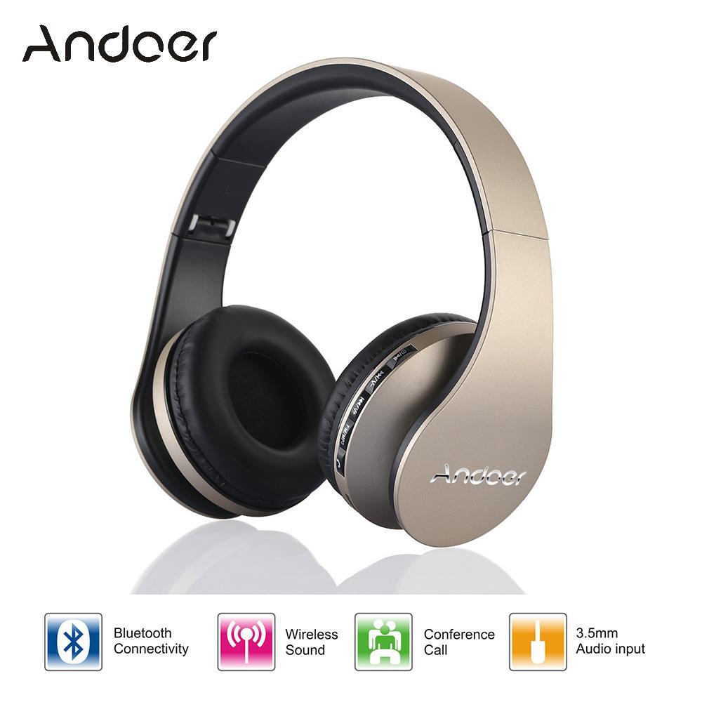 Digital 4 in 1 Andoer LH-811 Stereo Wireless Bluetooth 4.1 + EDR Headphone Headset & Wired Earphone with Mic MicroSD/TF FM Radio(China (Mainland))
