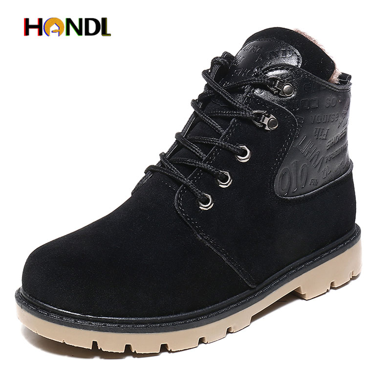 New Winter Mens Boots Casual Black Suede Leather Ankle Boots For Men Shoes Fashion Work Fur Snow Boots Men Warm Winter Shoes 111<br><br>Aliexpress