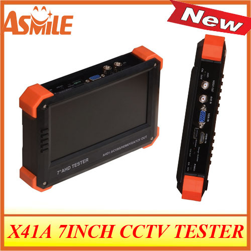 New 7 inch IP CCTV tester with VGA digital multimeter and PTZ control from asmile(China (Mainland))