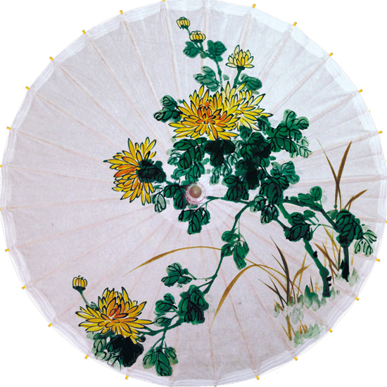 Dia 50cm Free shipping chrysanthemum umbrella fabric waterproof and sunshade oiled paper umbrella gift and collection umbrella(China (Mainland))