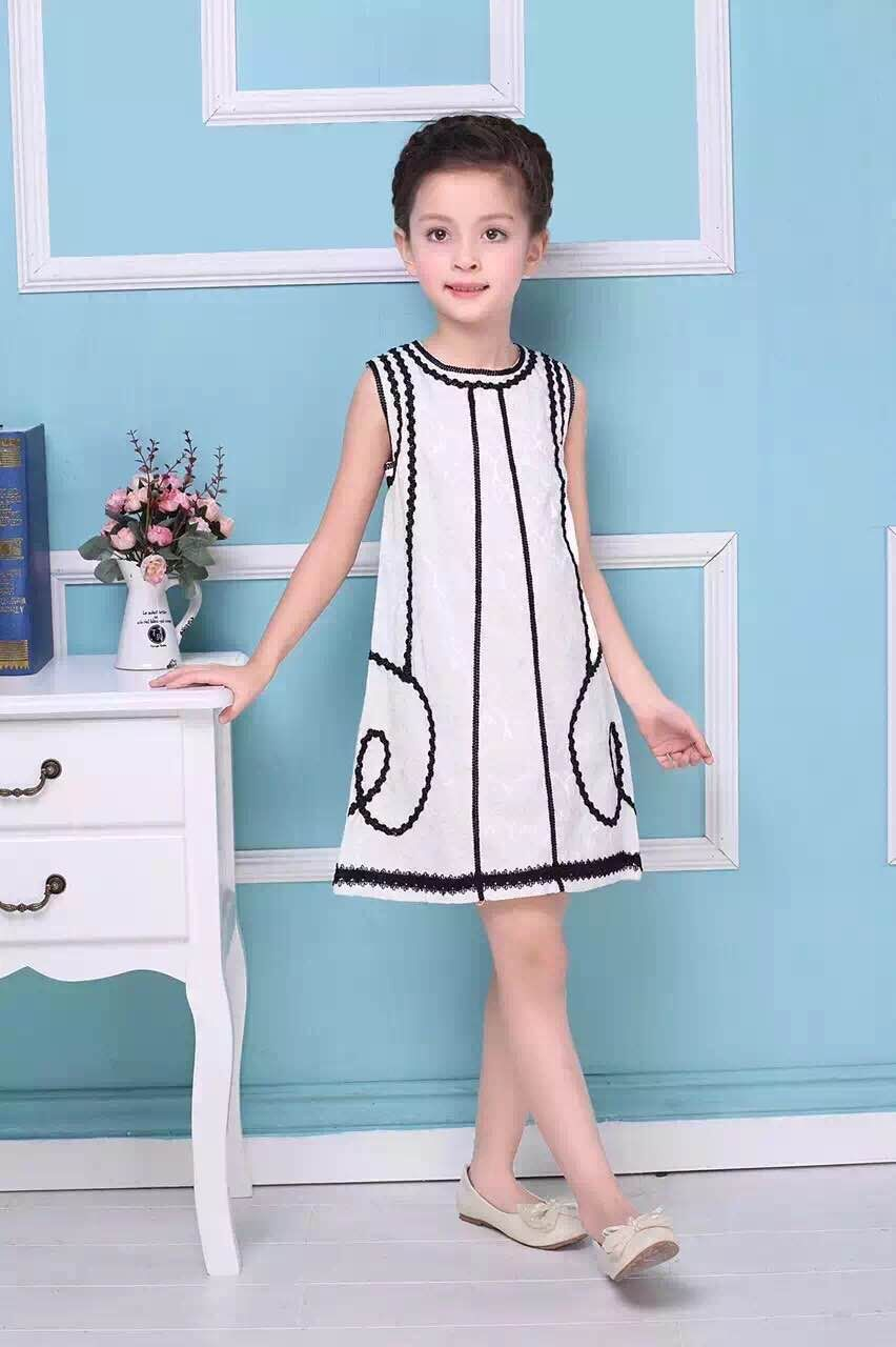 2Color Girls Embroidery Sleeveless Dress princess party dresses Childrens  a-line dress clothing Wholesale<br><br>Aliexpress