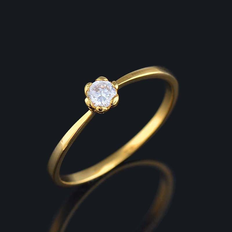 Fine 18K gold plated finger ring paved beautiful pure ...