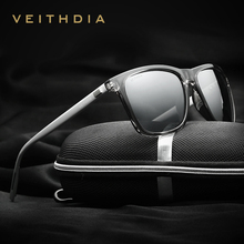 VEITHDIA Brand Unisex Retro Aluminum+TR90 mirror Sunglasses Polarized Lens Vintage Eyewear Accessories Sun Glasses For Men/Women