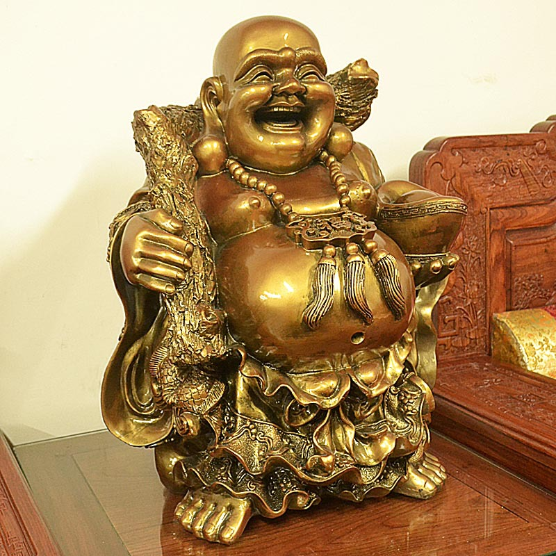 Mi Luo Buddha ornaments home decor crafts office parlor Lucky town house feng shui ornaments business gifts(China (Mainland))