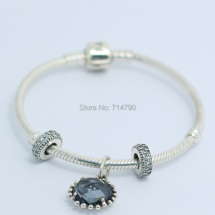 925 Sterling Silver Bracelets &amp; Bangles ,Women Jewerly Fits Charm and Beads<br><br>Aliexpress