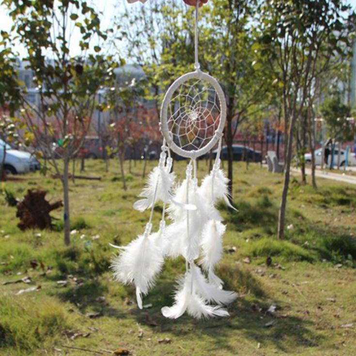 2015 Hot Sale Hot Dream Catcher Circular Net With feathers Wall Hanging Decoration Home Decor Ornament drop shipping(China (Mainland))