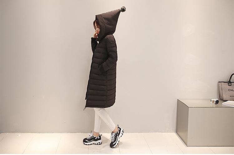 Скидки на Новый Плюс Размер Женщин Зимы Вниз Хлопка Куртка Долго Сгущать Парки Женский С Капюшоном Хлопка Мягкий Моды Теплое Пальто Верхняя Одежда
