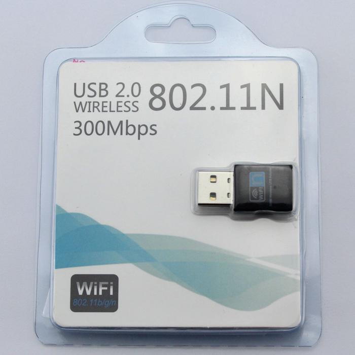 Free shipping 2.4G Mini 300M USB WiFi Wi-Fi Wireless Adapter LAN 802.11n Adapter Network Card(China (Mainland))