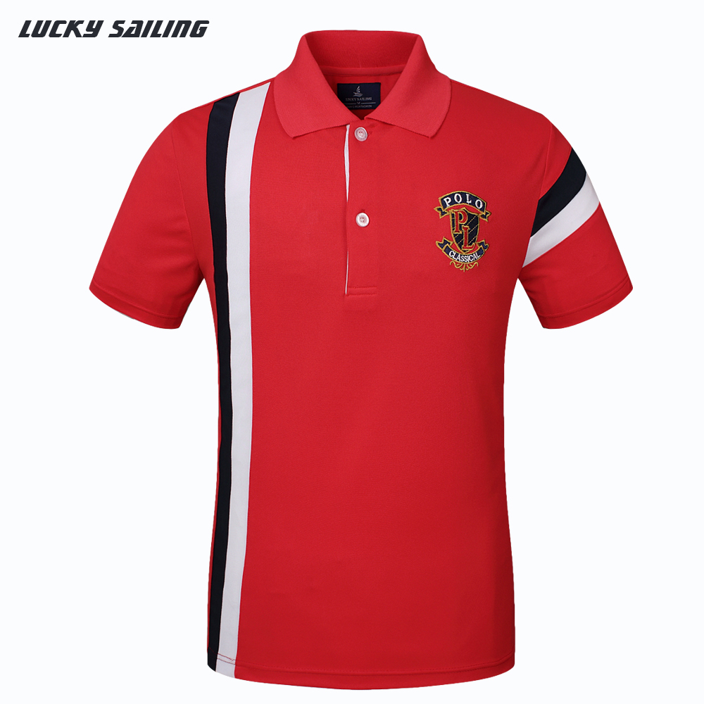 Lucky sailing new arrival 2015 brand embroidery logo for Polo shirt with undershirt