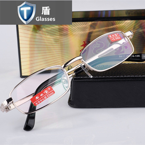 Leather Frame Reading Glasses : New book treasure metal full frame reading glasses frame ...