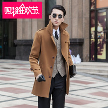 2016 new arrival Winter coat men's slim overcoat casual super large thermal single breasted trench outerwear plus size S-8XL 9XL(China (Mainland))