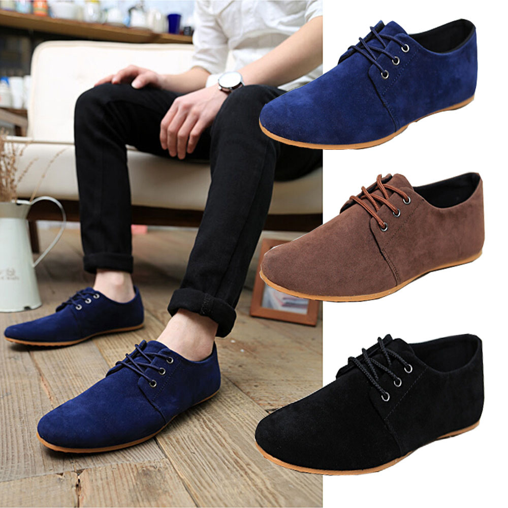 Hot Size 39-44 Fashion Summer Men's Canvas Nubuck Leather Low Style Lace Up Casual Walking Sneakers Fashion Flat Shoes(China (Mainland))