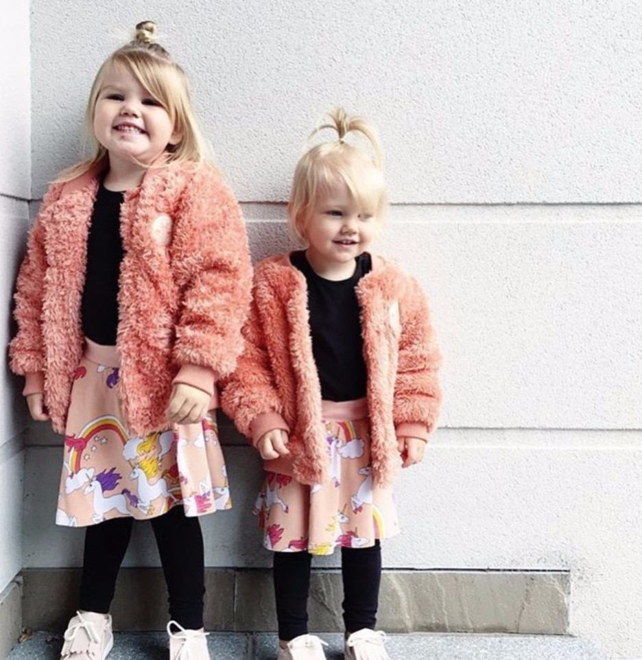 Girls Outerwear Kids Faux Fur Coat Cotton-padded Jacket Baby Girl Clothes Imitated Fur Coat Manteau Fille Warmed for Winter