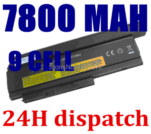 9CELL 7800MAH Laptop Battery For Lenovo ThinkPad X220 X220i 0A36282 42T4875 ASM 42T4862 FRU 42T4863 42T4873 42Y4868 42T4861