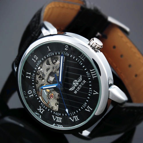 Winner Mechanical Watch Men's Skeleton wristwatch Man watches Leather Relogio Masculino Luxury Fashion Casual Wrist Watch