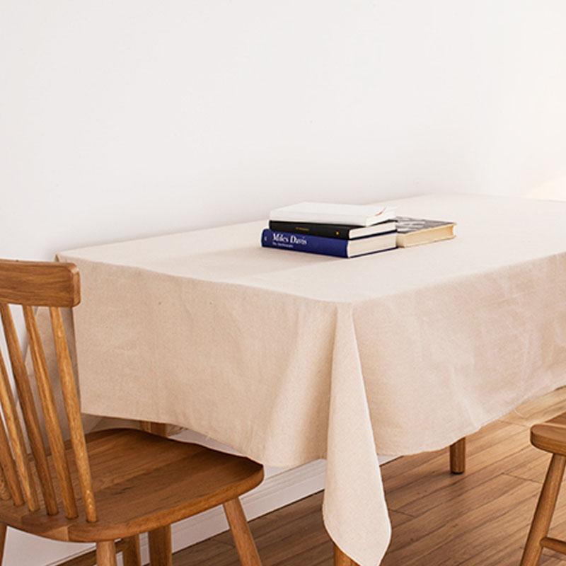 beige linen tablecloth japan style white cotton linen table cloth mantel de mesa solid vintage christmas table cover decoration(China (Mainland))