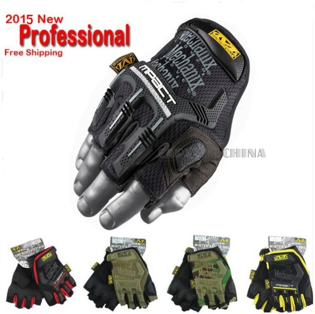 Mechanix M-Pact Tactical Gloves Airsoft Shooting Bicycle Outdoor Specialized Fight Gloves Sport Tactical Half Finger Gloves(China (Mainland))