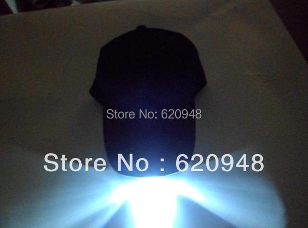 Five led lights Flashing cap power light up cap,fashionable sport led lighting hats(China (Mainland))