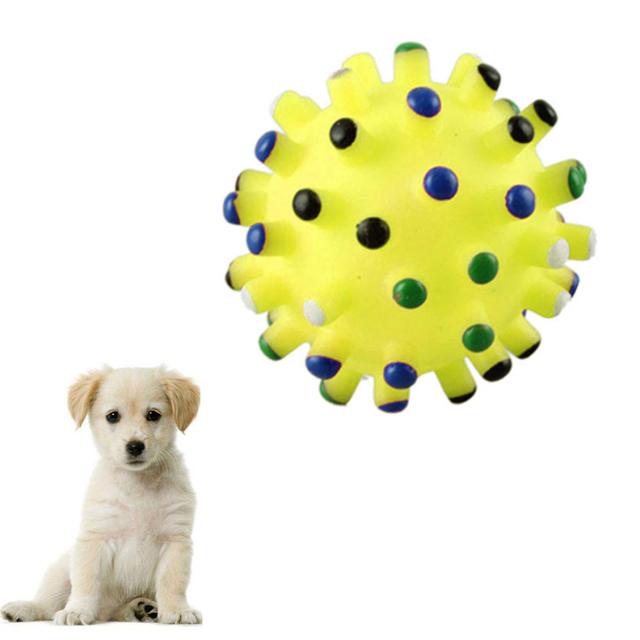 Силиконовые Собак Pet Cat Играть Скрипучий Squeaker Квак Звук Chew Лечить Держатель Мяч Игрушка Счастливые Подарки Высокое Качество