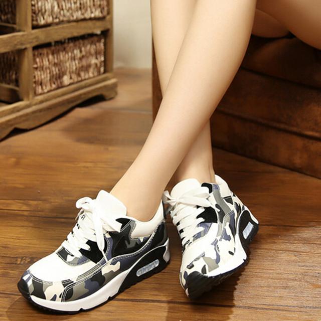 Новый похудения обувь женская мода кожа свободного покроя обувь женщин фитнес леди ...