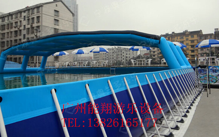 Pool inflatable pool slide manufacturers selling large bracket combination water park anime water world(China (Mainland))